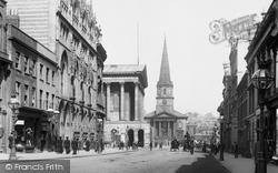 Paradise Street, Town Hall And Christ Church 1896, Birmingham