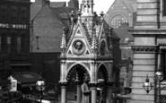 Birmingham, The George Dawson Statue By The Chamberlain Memorial Fountain 1896