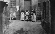 Birmingham, Women At Rear Of 12 & 13 Upper Priory c.1872