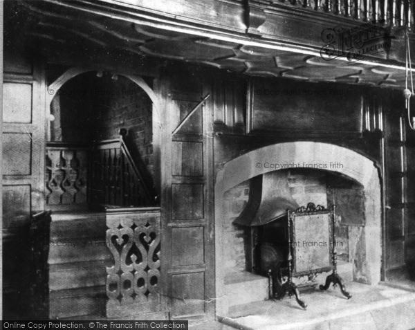 Birstall, Oakwell Hall, Fireplace And Staircase C.1950