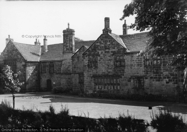 Birstall, Oakwell Hall From Gardens C.1950