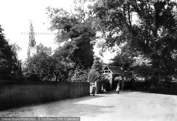 Bisham, All Saints' Church and Lychgate 1890