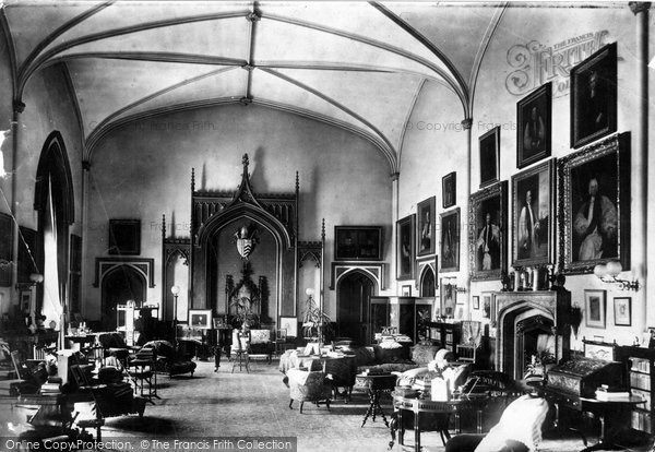 Bishop Auckland, Castle, Drawing Room 1898