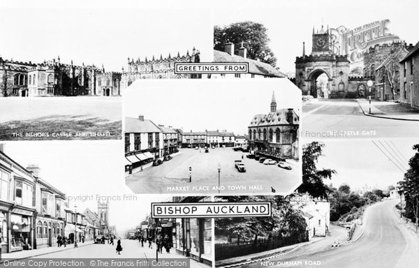Photo of Bishop Auckland, Composite c1955, ref. b102011
