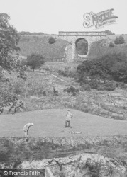 Bishop Auckland, Golf Links And Railway Bridge 1914