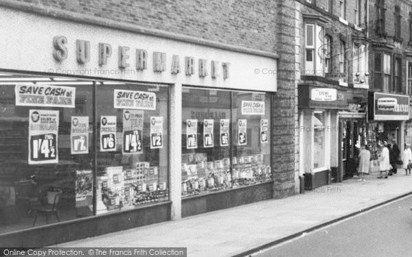 Photo of Bishop Auckland, Supermarket In Newgate Street c.1965