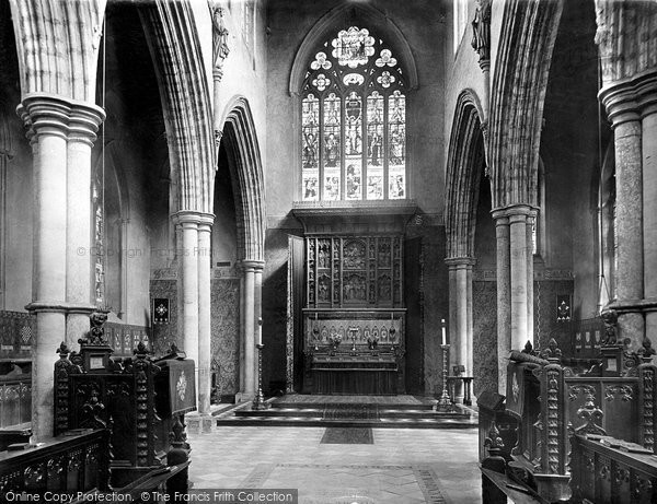 Photo of Bishop Auckland, the Castle Chapel, the Reredos 1892, ref. 30711