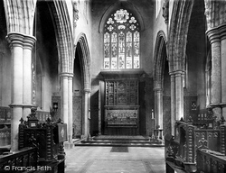Bishop Auckland, The Castle Chapel, The Reredos 1892