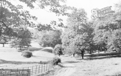 Bishop Auckland, The Park c.1955