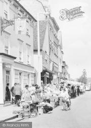 Bishop's Stortford, George Hotel, And Market Stalls c.1960