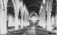Bishop's Stortford, St Michael's Church Interior 1899