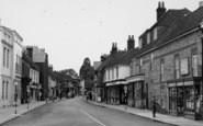 Bishop's Waltham, Pedestrian In The High Street c.1955