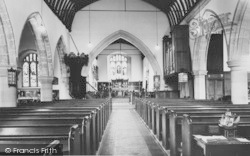 Bishop's Waltham, The Interior Of St Peter's Church c.1955