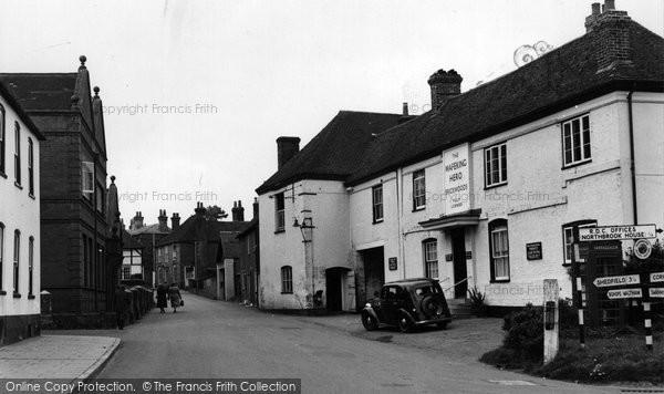 Photo of Bishop's Waltham, the Mafeking Hero, Bank Street c1955