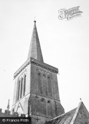 Bishops Cannings, Church Spire 1950