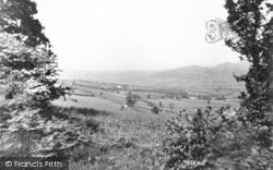 Bishops Castle, Church Stoke Valley From Banks Head c.1950, Bishop's Castle
