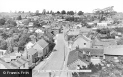 Bishops Castle, From The Church Tower c.1955, Bishop's Castle