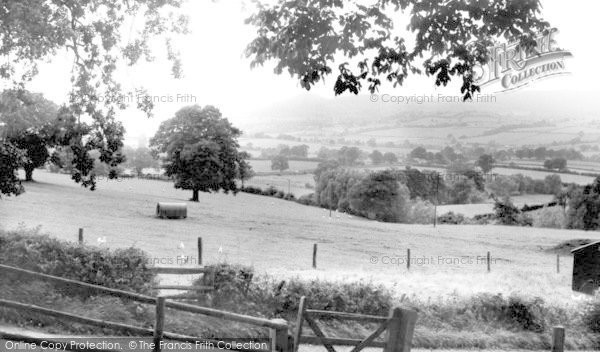 Bishops Castle, view from Montgomery Road c1955