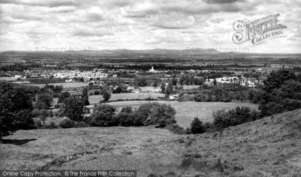 Bishops Cleeve, From Cleeve Hill c.1955