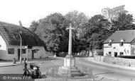 Bishops Cleeve, Kings Head, War Memorial and Post Office c1960