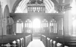 St Mary's Church Interior c.1960, Bishops Lydeard
