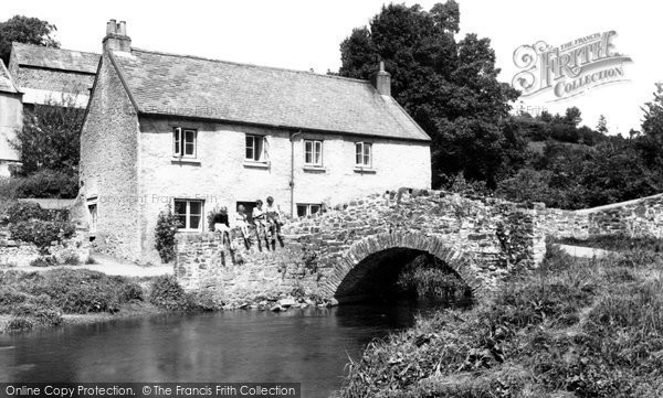 Photo of Bishops Tawton, Mill Cottages c1955