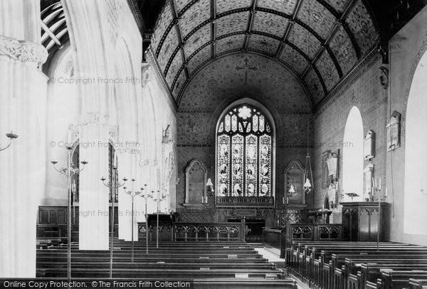 Bishopsteignton, Church interior 1890