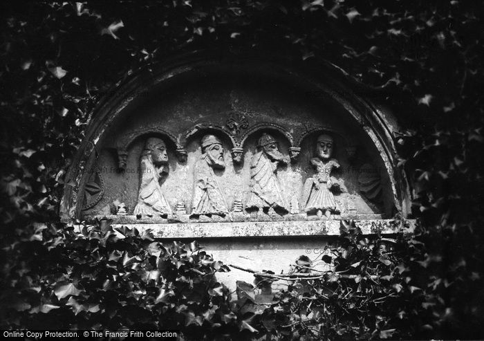 Bishopsteignton, Church, The Tympanum Over The Old South Door 1890