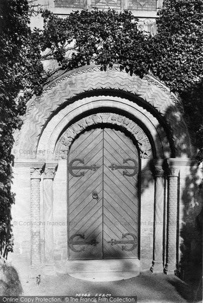 Bishopsteignton, Church west door 1895