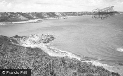 Bishopston, The Bays From Pwll-Du Point c.1960