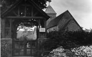 Bishopstone, St Andrew's Church And Lychgate c.1955