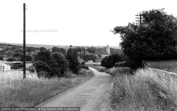 Bishopstone, the approach to the Village c1960