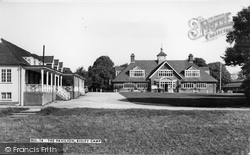 Bisley, Camp, The Pavilion c.1955