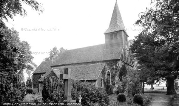 Bisley church, 1911. Reproduced courtesy of The Francis Frith Collection