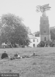 The Green And St Mary's Church c.1960, Bitteswell