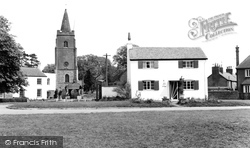 White Cottage And St Mary's Church c.1960, Bitteswell
