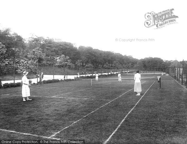 Blackburn, Corporation Park Tennis Courts 1923