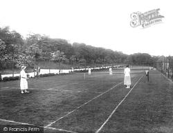 Blackburn, Corporation Park Tennis Courts 1923