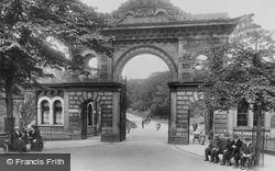 Blackburn, Corporation Park, The Entrance 1923