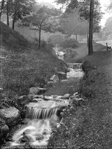 Blackburn, Corporation Park, The Waterfall 1923