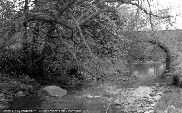 Blackburn, River Almond And Hopefield Bridge c.1960