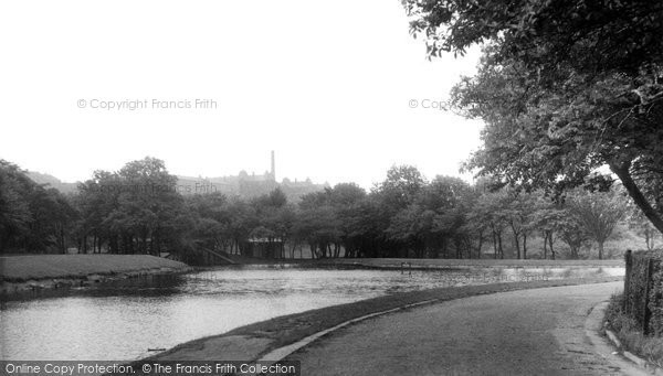 Blackburn, The Lake, Queens Park c.1955
