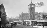 Blackburn, The Market And Town Hall 1894