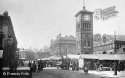 Blackburn, the Market and Town Hall