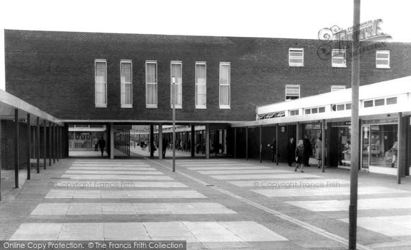 Blackburn, The Shopping Centre And Golden Hind Hotel c.1960
