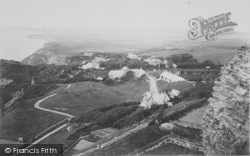 Blackgang Chine, From Gore Cliff c.1900