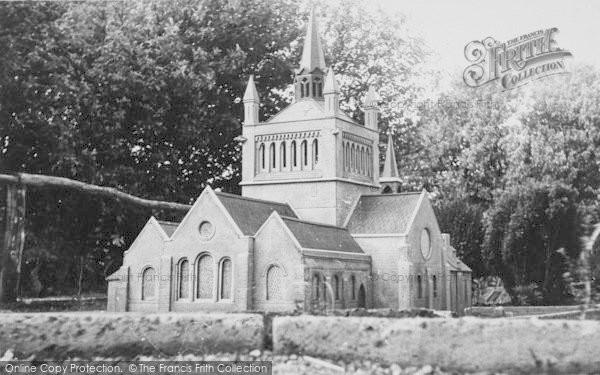 Photo of Blackgang Chine, Model Village, Whippingham Church c.1955