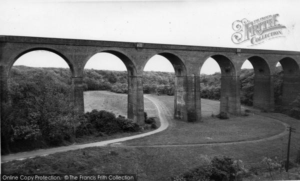 Blackhall Colliery, The Viaduct, Crimdon Dene c.1965