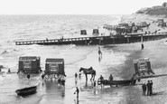 Blackpool, Bathing Machines On The Beach 1890