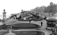 Blackpool, Cliff Walk, North Shore c.1955